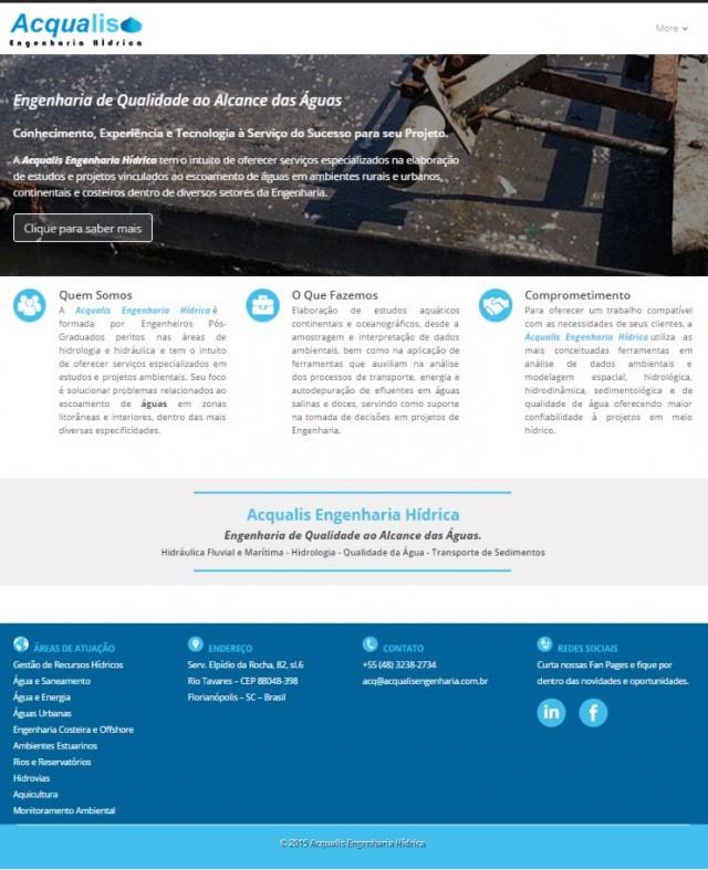 Acqualis Engenharia Hídrica inaugura seu novo Portal de Comunicação Web