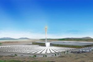 Estufa gigante cultiva alimentos a partir da dessalinização de água movido a energia solar.