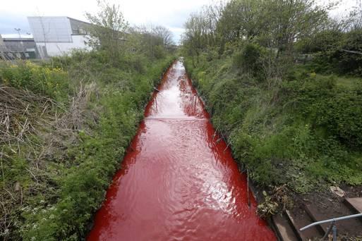 """Rio amanhece """"pintado de vermelho"""""""