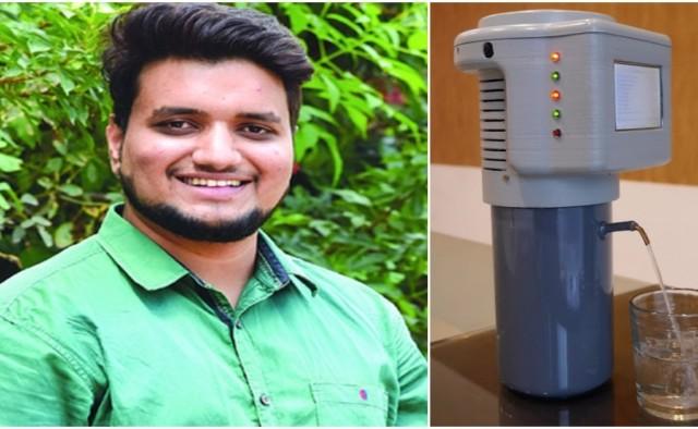 """Estudante constrói dispositivo que """"cria"""" água através do ar."""
